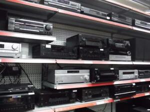 We got Receivers, CD Players, Blueray/DVD Players, Tuners and Turntables! Come down to Busters Pawn Shop today!