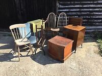 WANTED: Free furniture, fabric/wall paper off cuts, pallets, building supplies
