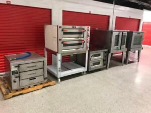 Restaurant Liquidation ! 3 Pizza oven , 2 Garland convection ovens , gas and electric , like new !!! Save $$$ mint !