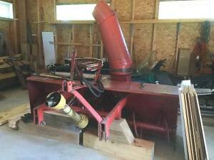 Tractor accessories - snowblower, forks, chains