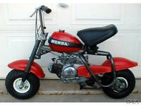 HONDA QA50 MINIBIKE PARTS OR COMPLETE BIKES WANTED