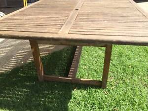 Outdoor table timber Wooden Outdoor table.   150 x 150cm   Height Kewdale Belmont Area Preview