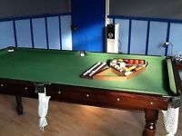 1/4 size (6'x3') slate bed snooker/pool table - AVAILABLE AGAIN 16 Feb 17