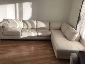MODERN LEATHER LOUNGE SOFA    190x80 West Footscray Maribyrnong Area Preview