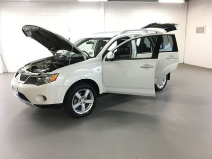 2007 Mitsubishi Outlander ZG MY08 LS White 6 Speed Constant Variable Wagon