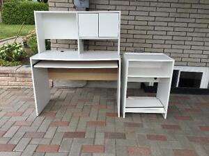 Desk avec meuble d'imprimante