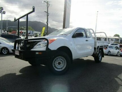 2012 Mazda BT-50 UP0YF1 XT 4x2 Hi-Rider White 6 Speed Manual Cab Chassis