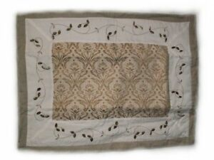 Sage Green Tapestry and Embroidered Pillow Shams x 2 Gatineau Ottawa / Gatineau Area image 1
