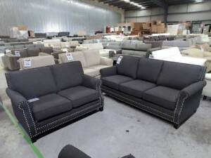 MARY SOFA PACKAGE SALE - CARBON COLOUR WAS $2180 NOW $1650 (NEW) Eumemmerring Casey Area Preview