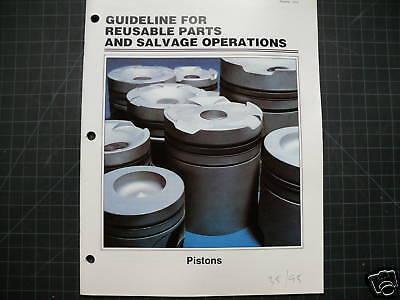 Cat Caterpillar Reusable Parts Guide Manual Brochure Repair Service Tractor Shop