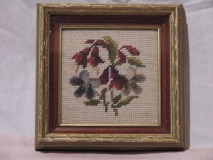 2 pieces of Vintage Needle Point Art work Peterborough Peterborough Area image 3