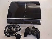 Sony Playstation 3 80GB HardDrive Piano Black 1 Wireless Controller & 7 Games