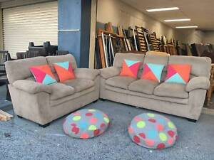 TODAY DELIVERY BIG MODERN CHOCOLATE 3X2 sofas set couches SALE Belmont Belmont Area Preview