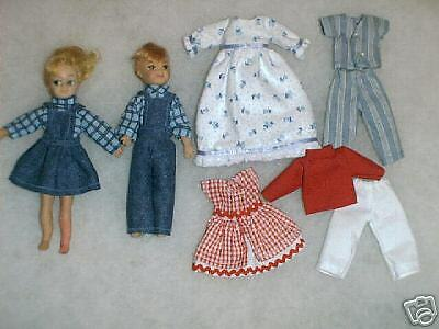 """Two NG Creations Sewing Patterns fit Vintage Mattel 6"""" Tutti & Todd Dolls"""