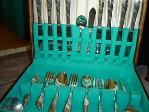 55 piece silver plated Vintage cutlery set by