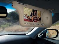 "7"" SUN VISOR DVD PLAYER, yellow, black and silver colour!"
