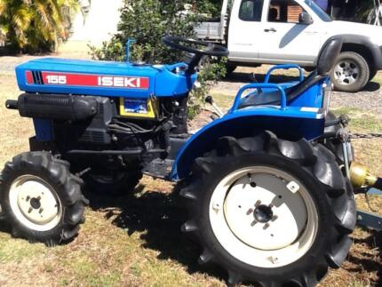 Iseki TX155 Tractor with slasher for sale
