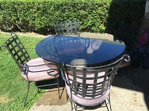 Outdoor - Glass table and (4) chairs Robina Gold Coast South Preview