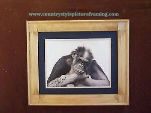 """""""This Is Not A Mirror"""" Chimp Framed Art Print"""