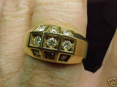 Gents  9 Clean Diamond Ring  Size 10-1/2