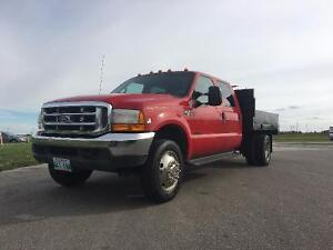 fully saftied 2000 Ford F-450 red Pickup Truck
