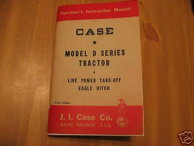 Case Model D Dc Do Ds Tractor Operators Owners Manual