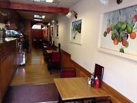 Caferestaurant city centre close to buss station,highcourt,city council 50 chairs has accommodation