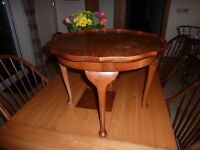 walnut coffee table as new condition