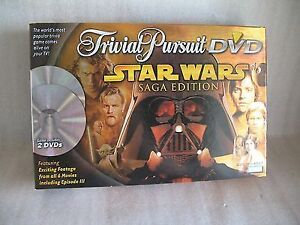 STAR WARS BRAND NEW TRIVIAL PURSUIT SAGA 2DVD BOARD GAME