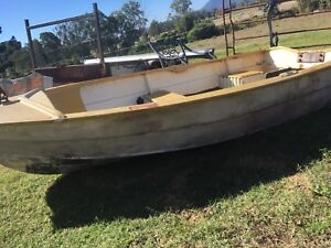 11ft fiberglass tinny and 4hp outboard Beaudesert Ipswich South Preview
