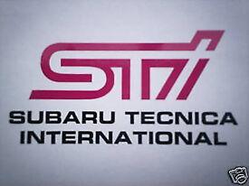 SUBARU IMPREZA STI FOG COVER STICKERS X2 PINK METALLIC GREY STANDARD SIZE
