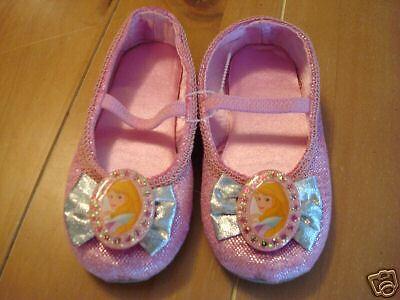 New Disney AURORA Sleeping Beauty Costume Dress-Up Ballet Shoes 2/3](Sleeping Beauty Dress Up Shoes)