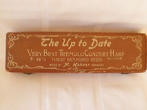 """The Up To Date Very Best Tremolo Concert Harp No. 48 1/2""w/Case"