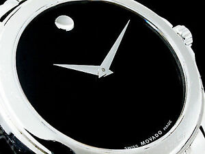 MOVADO MEN'S WATCH - STUNNING ICONIC SAPPHIRE WITH BLACK DIAL