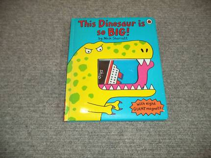 "Childrens Hardcover Large Magnet Book ""This Dinosaur is So Big"""