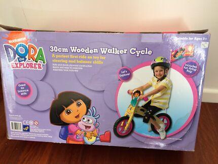 NEW WOODEN BALANCE BIKE -  Dora The Explorer