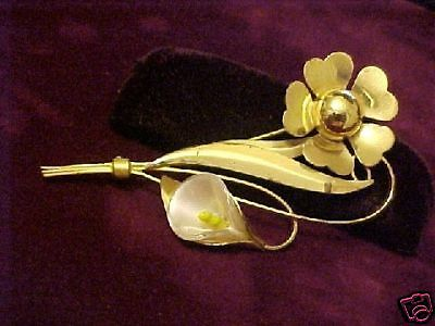 Ornate Truart Sterling Silver Flower Pin CAT RESCUE