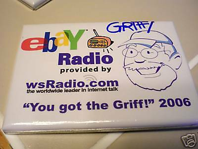 EBAY LIVE uncle Jim GRIFF AUTOGRAPH  signed RADIO PIN
