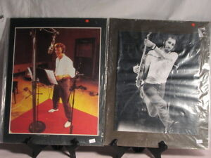 2 Vintage Rock and Roll Mounted Photos