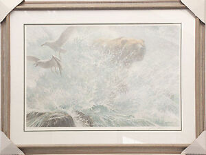 Robert Bateman grizzly in the falls
