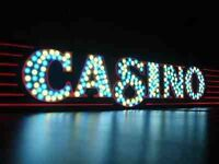 Illuminated Fun Casino Entrance. Has 8 different light setting; slow fade to full-on with Red Carpet