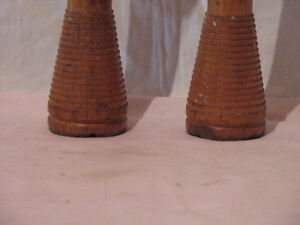 No.2 -Antique - Two Large Wooden upcycled Candle Sticks Peterborough Peterborough Area image 2