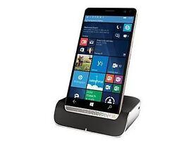 HP Elite X3 in box + desk dock + case + wireless keyboard and mouse