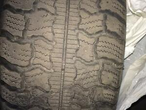 Set of 4 winter tires 185 70 r14.on Rims