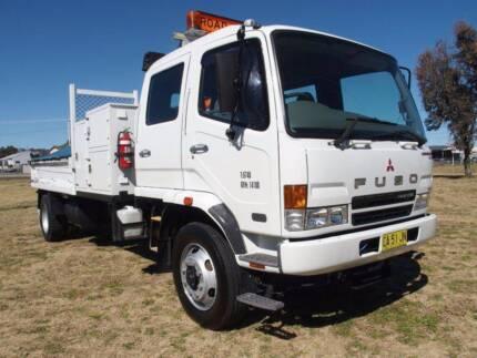 Mitsubishi Fuso Fighter 8 4x2 Dualcab Tipper/Crane Truck