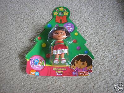 New Sealed Dora The Explorer Christmas Party Figure