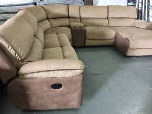 New Fabric sofa with manual recliner and chaise Eumemmerring Casey Area Preview