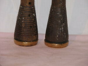 No.1 - Antique - Two Large Wooden upcycled Candle Sticks Peterborough Peterborough Area image 3