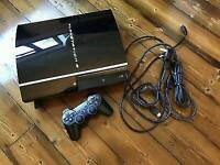 Ps3 80gb console comes with 1 controller/and a few games/ for sale or swaps