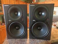 2 HR824's studio monitors (made in USA)
